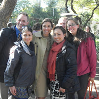Fellow PCV's standing with Michelle Gavin, US Ambassador to Botswana