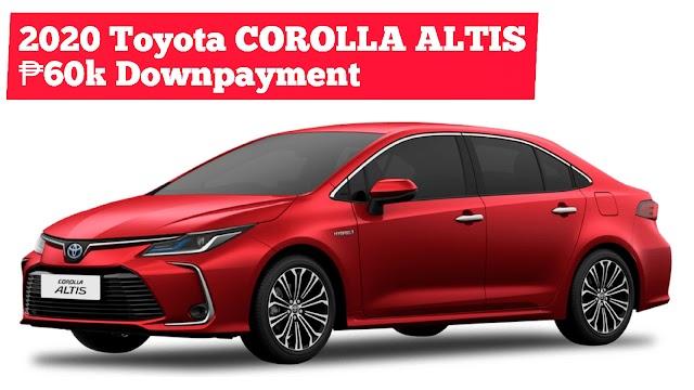 2020 New COROLLA ALTIS SEDAN Low Downpayment Installment Promos | Toyota Batangas City
