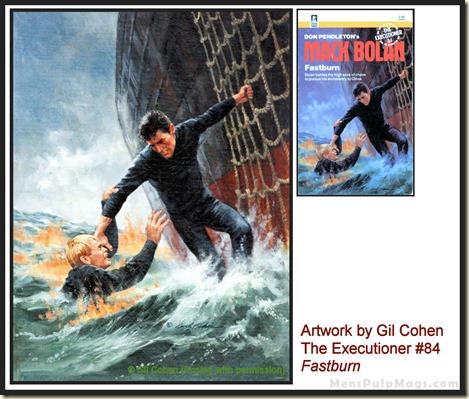Executioner #84, art by Gil Cohen, MensPulpMags.com