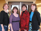 Paula Zalucki, Donna Marshall, Sharon Smith and Ginny Lloyd