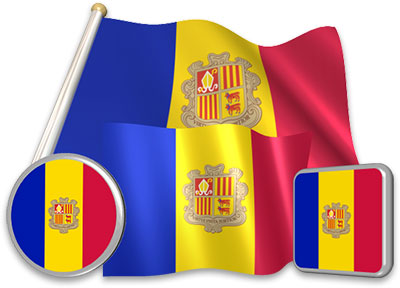 Andorran flag animated gif collection