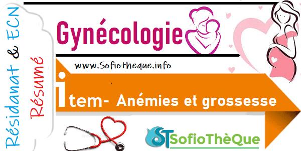 Cours PDF résumé : Anémies et grossesse