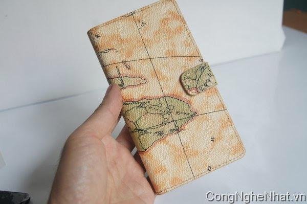 Bao da Sony Xperia 1(SO-01F) hình bản đồ độc đáo