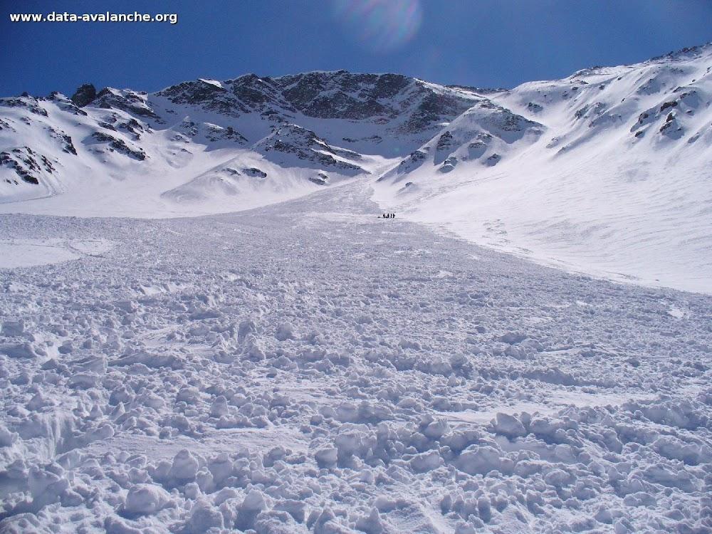 Avalanche Vanoise, secteur Sommet de Bellecôte, Couloir Pépin - Photo 1