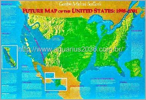 futuro mapa dos Estados Unidos