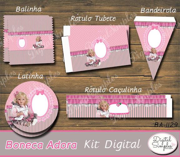 Kit Digital Boneca Adora .....artesdigitalsimples@gmail.com