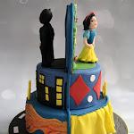 Double sided princess and superheroes cake 5.jpg
