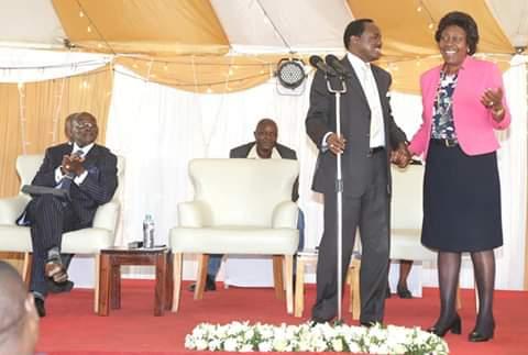 Kalonzi and Ngilu meet; BBI in Ukambani; Wiper boss Kalonzo Musyoka with Kitui governor Charity Ngilu. PHOTO | BMS