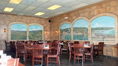 Ya Hala Lebanese Restaurant interior in Portland