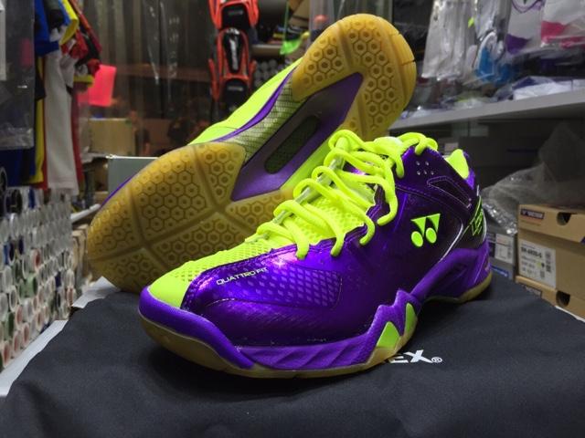Yonex Shb  Limited Edition Badminton Shoe Purple Yellow Reviews
