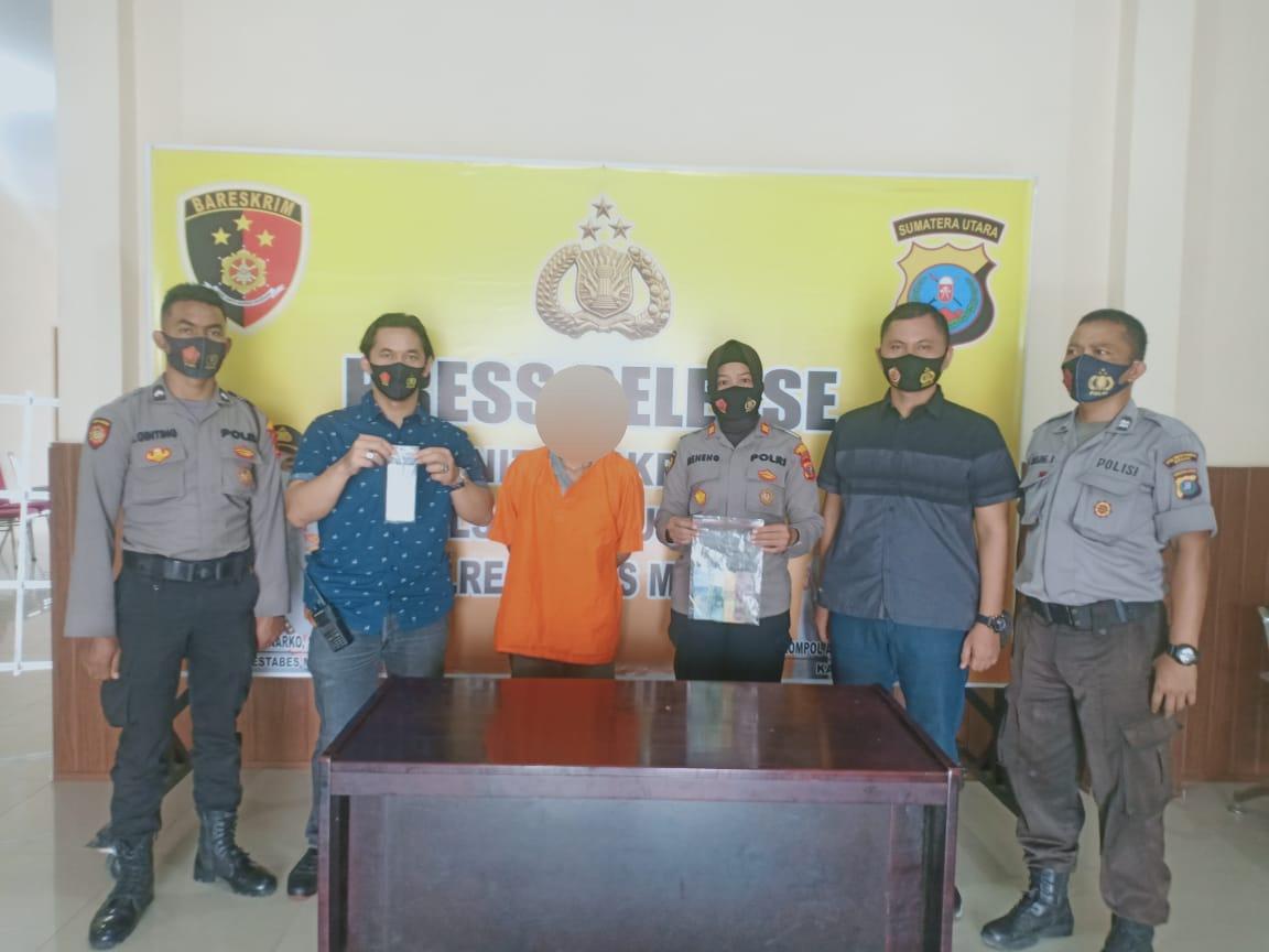 Unit Reskrim Polsek Patumbak Ringkus Pria Diduga Pengedar Togel Secara Online