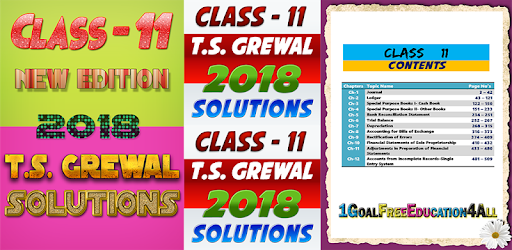 Account Class-11 Solutions (TS Grewal) 2018 - Apps on Google