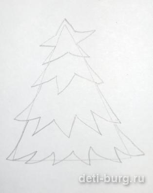 Рисуем ветки елке