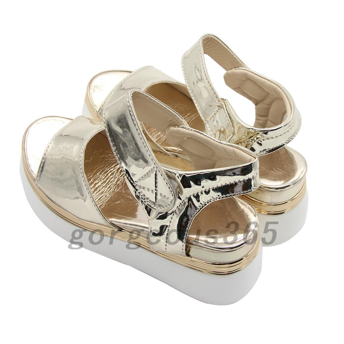 popular womens wedge high platform open toe sandals