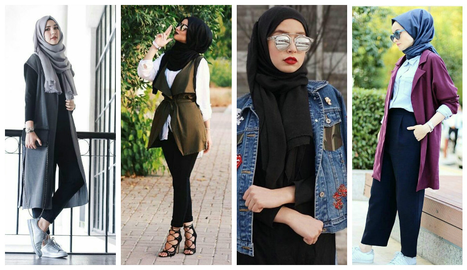 AMAZING CASUAL HIJAB OUTFITS DESIGNS FOR LADIES 2019 6