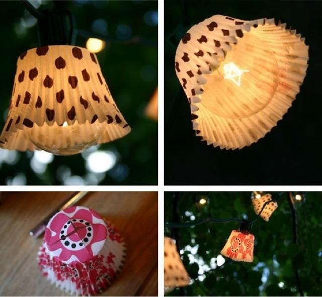 Lampion dari kertas cupcake ini merupakan ide yang bagus untuk hiasan pesta  kebun di malam hari. Bunda bisa menggunakan kertas cupcake warna warni ini  ... 4454f64758
