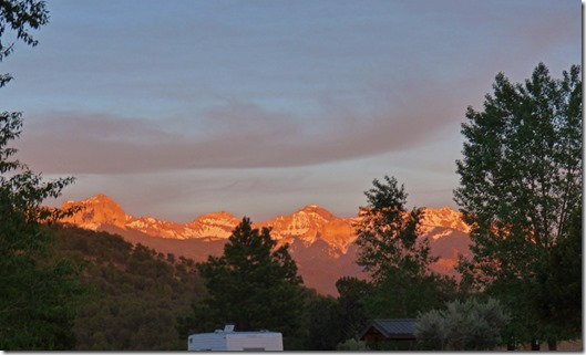 Sunset at Ridgway State Park, Colorado