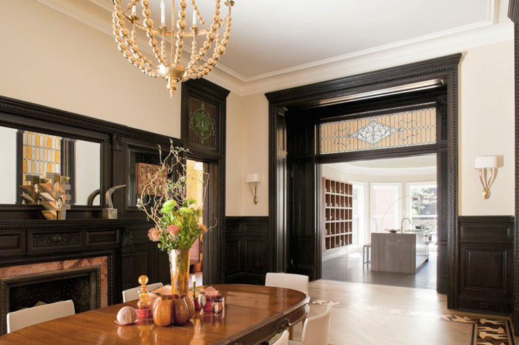 Brooklyn brownstone dining room after