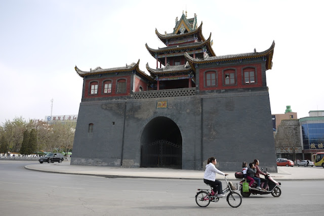 drum tower in Yinchuan, Ningxia