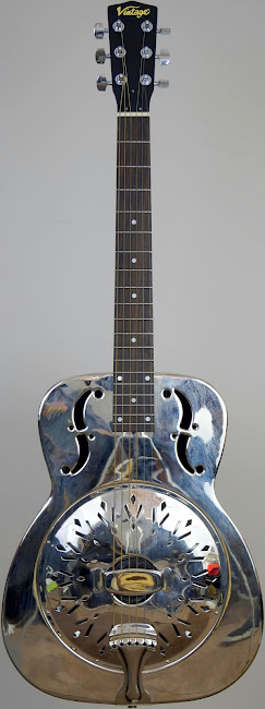 JHS Vintage AMG1 single cone Resonator Guitar at Ukulele corner