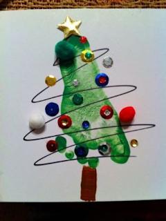 Atividades criança DIY Natal - Arvore Natal Pezinho