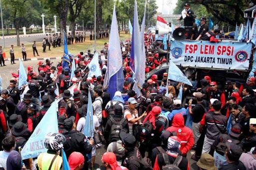 Buruh Bandung Tolak Kegiatan Politik May Day 2018