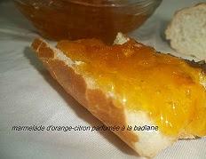 Recette de la Marmelade d'orange et de citron