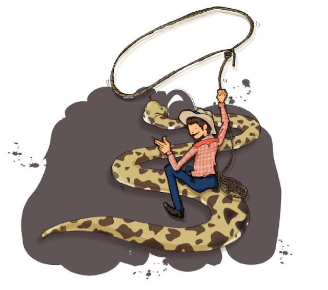 doma serpientes niños