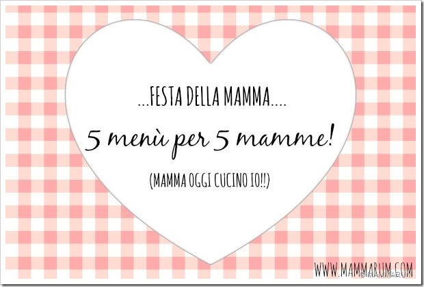 MENù FESTA DELLA MAMMA