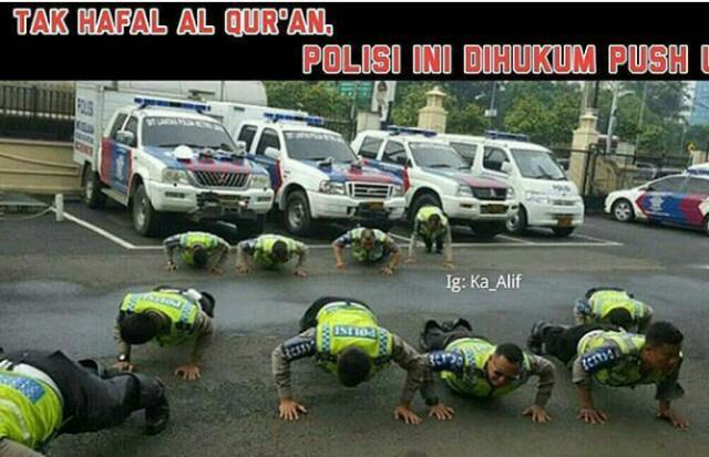 Tak Hafal Al Quran Polisi DisinI Di Hukum Push Up