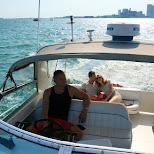 taking a boat cruise through the Toronto lakes in Toronto, Ontario, Canada