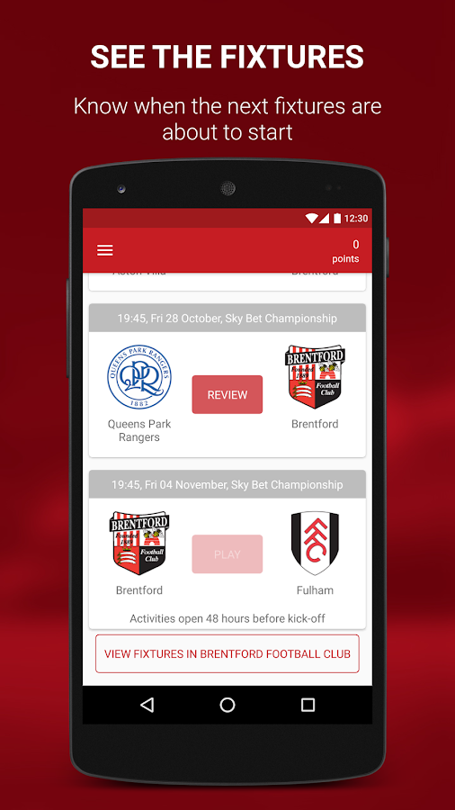 Brentford FanScore- screenshot