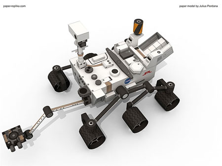 NASA Mars Science Laboratory Curiosity Rover Papercraft