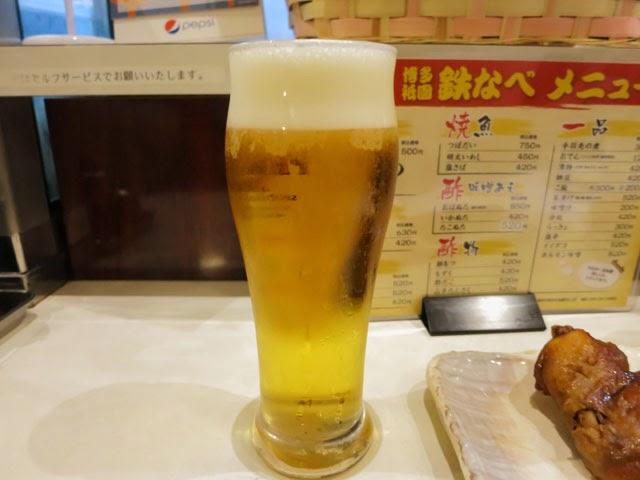 生ビールはプレミアムモルツ♪