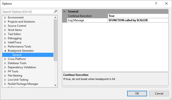 Configuración de la extensión