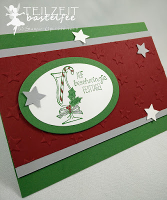 Stampin' Up! - In{k}spire_me #223, Prosit, Making Spirits Bright, Stars, Sterne, Weihnachten, Christmas, Framelits Oval Collection