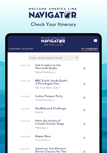 Holland America Line Navigator 1.7.5 screenshots 11