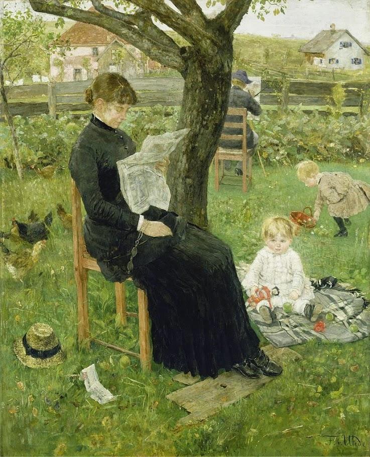 Fritz von Uhde - In der Sommerfrische (1883)