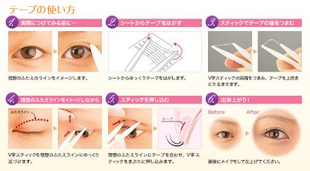 como colocar double eyelid e aumentar os olhos