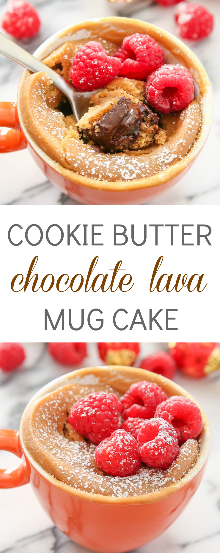 Cookie Butter Chocolate Lava Mug Cake photo collage