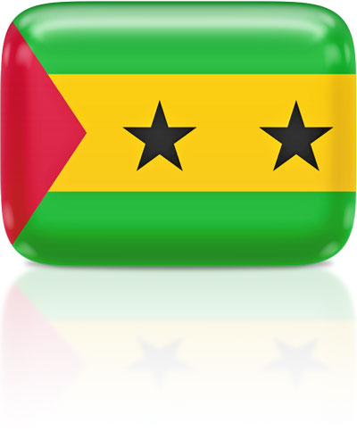 Sao Toméan flag clipart rectangular