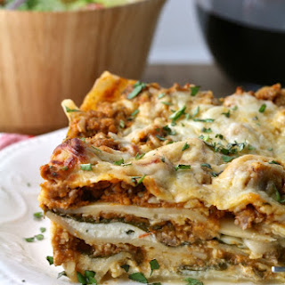 Lasagna with Spicy Sausage & Spinach.