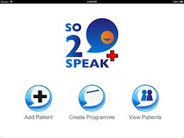 So2Speak+ Main Page