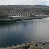 Chief Joseph Dam -- Spillway to the left, penstocks center of picture.  If you're ever here, ask to see A.J. Jensen (Best ranger anywhere!!)