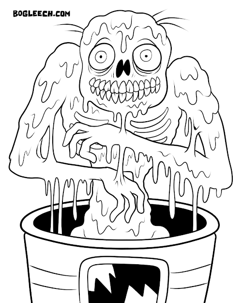 Zombies Coloring Pages  Melty Zombie Coloring Page By Scythemantis On  Deviantart