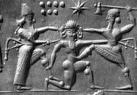 00 Sumerian gods fighting