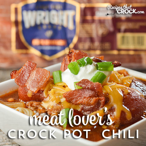 Meat Lover's Crock Pot Chili