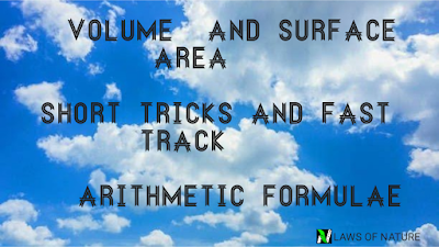 Volume and surface area | short tricks and fast track arithmetic formulae in Hindi | LAWS OF NATURE