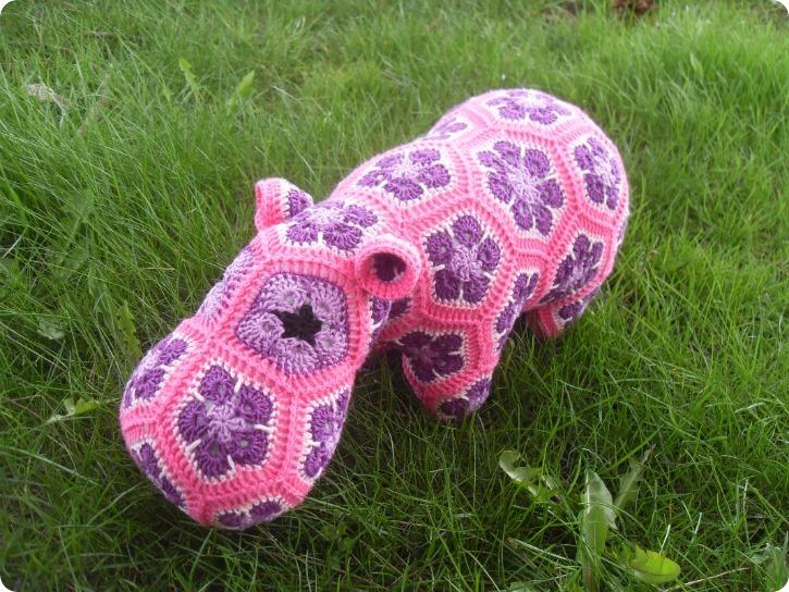 Pink Happy Hippo