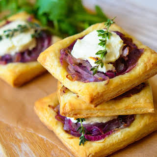 Caramelized Onion and Goat Cheese Tarts.
